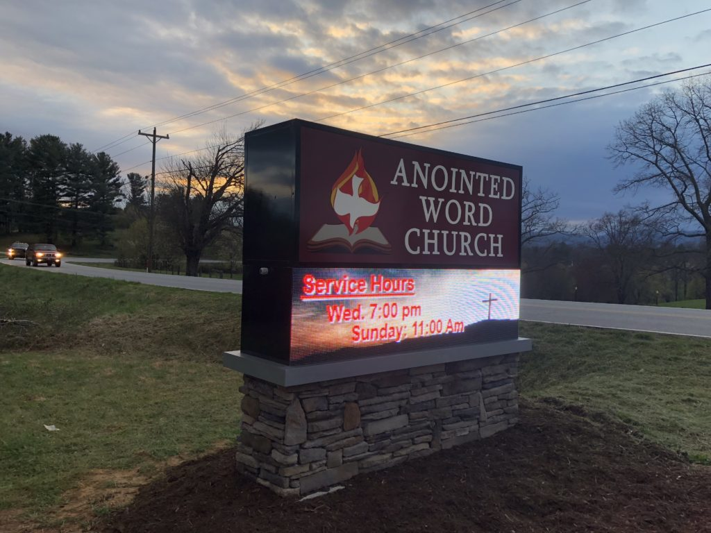 Anointing Church Sign