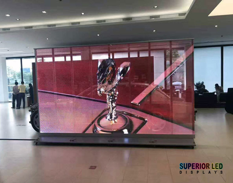 Transparent LED Wall Auto Dealership
