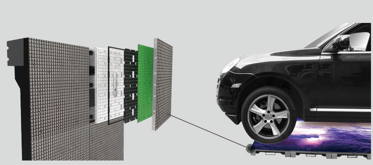 Floor LED Display Under Car