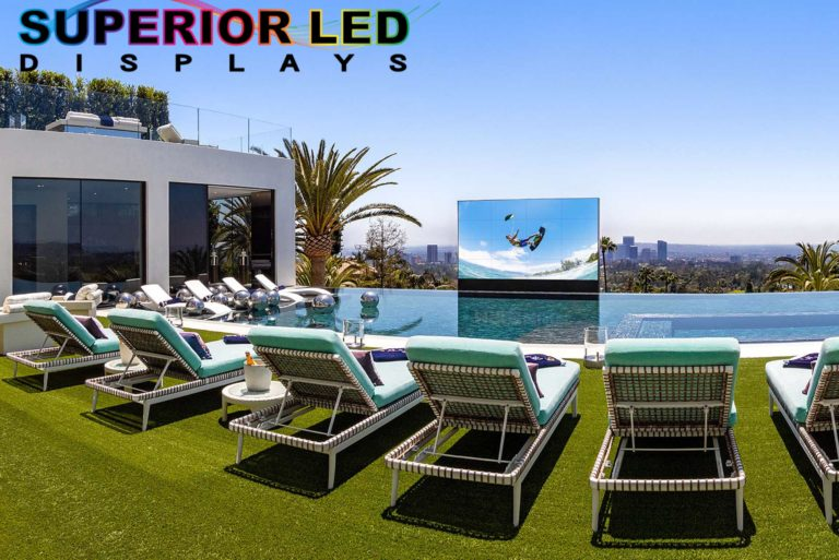 LED Display by Pool