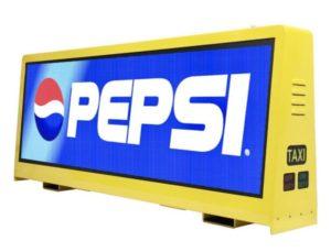 Pepsi Taxi LED Sign