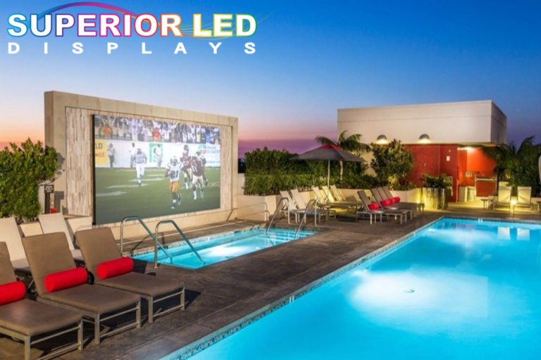 Outdoor Pool LED Display