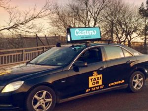 Taxi using LED Sign