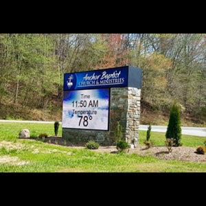Anchor Baptist Sign